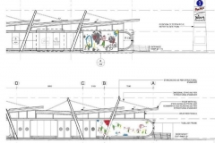 Artworks superimposed onto architects drawing (4)