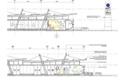 Artworks superimposed onto architects drawing (5)